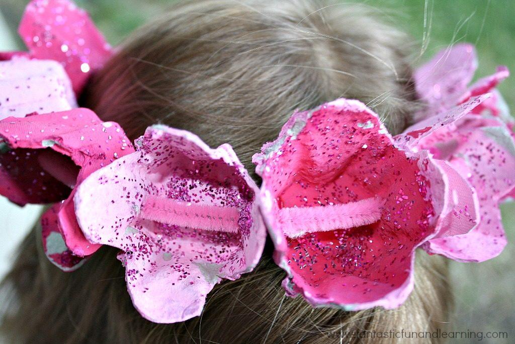 Egg Carton Queen Crown Craft for Girls