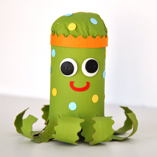 Adorable Paper Puppet: DIY Paper Octopus: A Kid's Craft