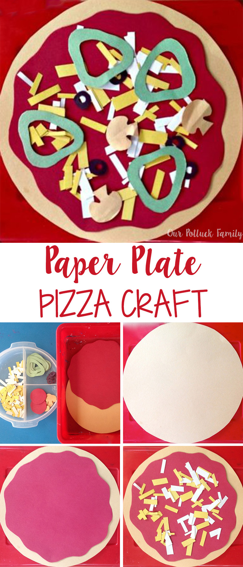 Kids Construction Sheet Craft Diy Paper Pizza Truly