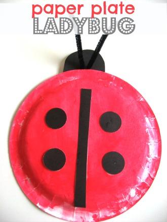 DIY Paper Plate Lady Bug Craft