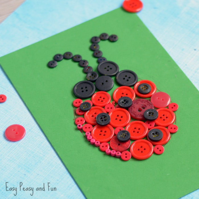 DIY Ladybug Craft: Fun Button Project for Kids
