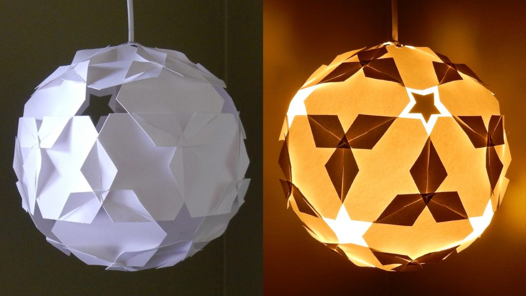 Diy Paper Lantern With Light Bulbs Truly Hand Picked