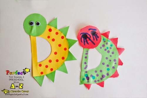 Kids Letter Craft Ideas: D is for Dinosaur