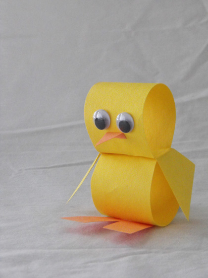 Yellow Little Paper Chick Craft
