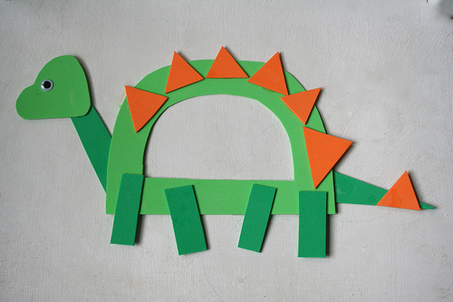 Paper Made Cute Dinosaur with the Letter D