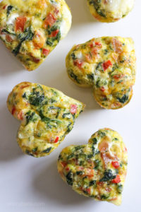 Loaded Baked Omelet Heart Muffins for Valentines Day Breakfast