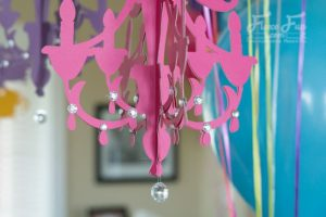 DIY Inexpensive Home Decor Paper Chandelier