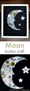 Totally Jewelled Button Moon Collage