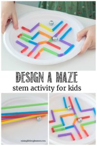 Learning Activities for Kids Paper Plate Craft: Maze STEM Challenge