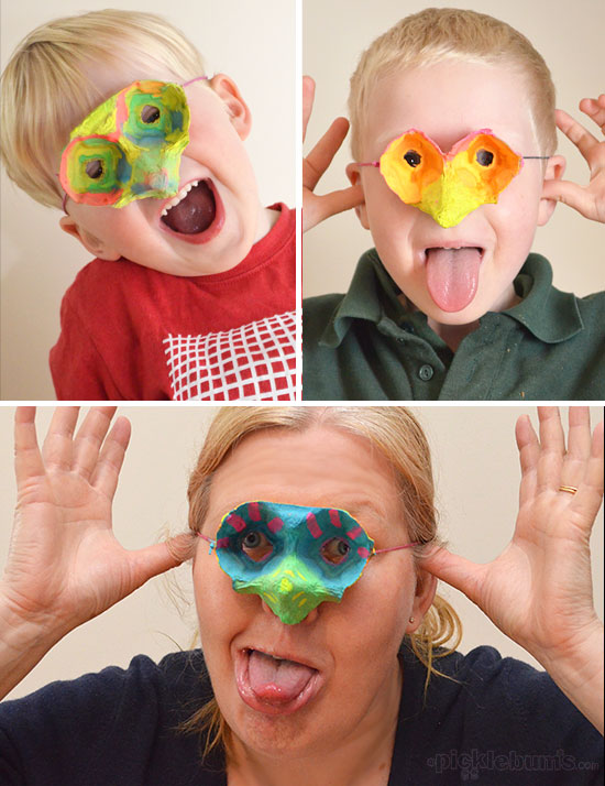 Quick & Easy Egg Carton Mask for Kids