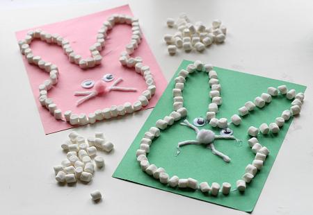 Plain Marshmallow Easter Bunny Craft for Kids