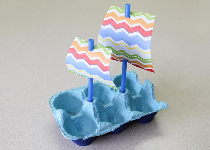Mayflower Boat Egg Carton Craft: Kids Summer Day Activity Idea ...