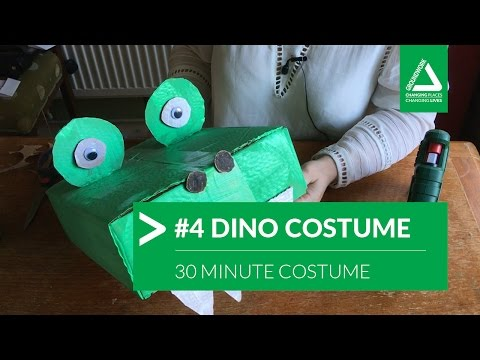 30 Minutes DIY Craft: A Cardboard Made Dino Costume