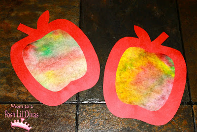 DIY Fall Craft- Coffee Filter Apples