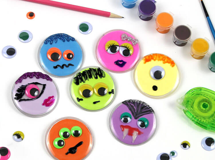 Quick & Easy Halloween Button Craft Monster Face