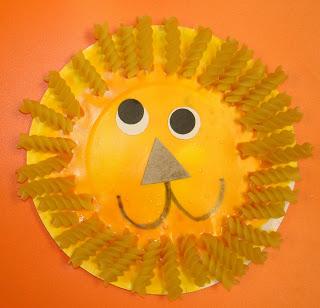 Cute Paper Plate Lion Craft