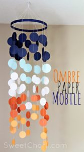 DIY Ombre Paper Mobile with Cricut Explore Decor with Catchy Color Strokes