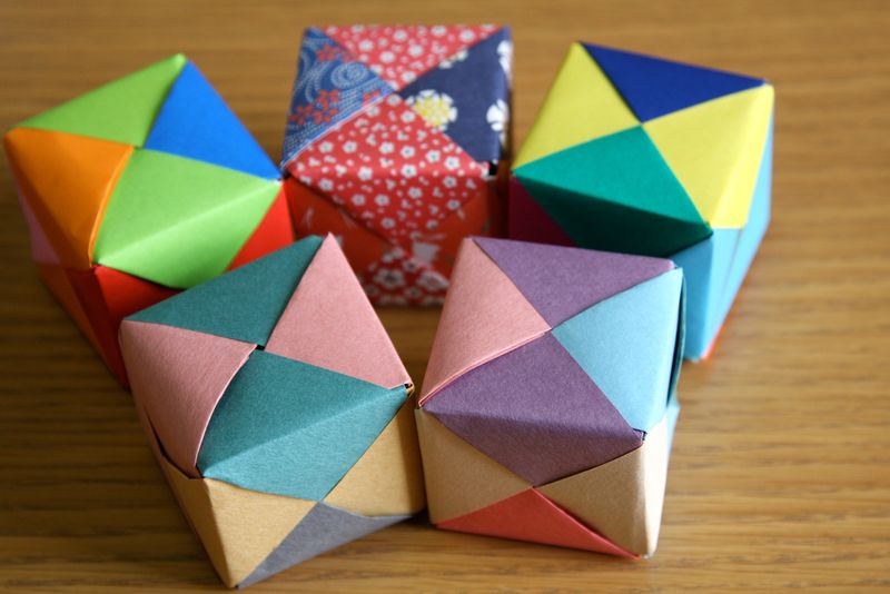 How to Fold Origami Paper Cubes | Origami cube, Paper cube ... | 534x800
