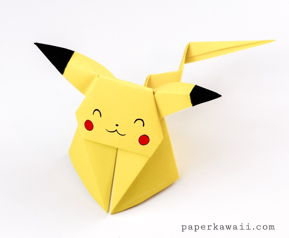 How to Make an Origami Pikachu Bookmark! - Instructables | 814x988