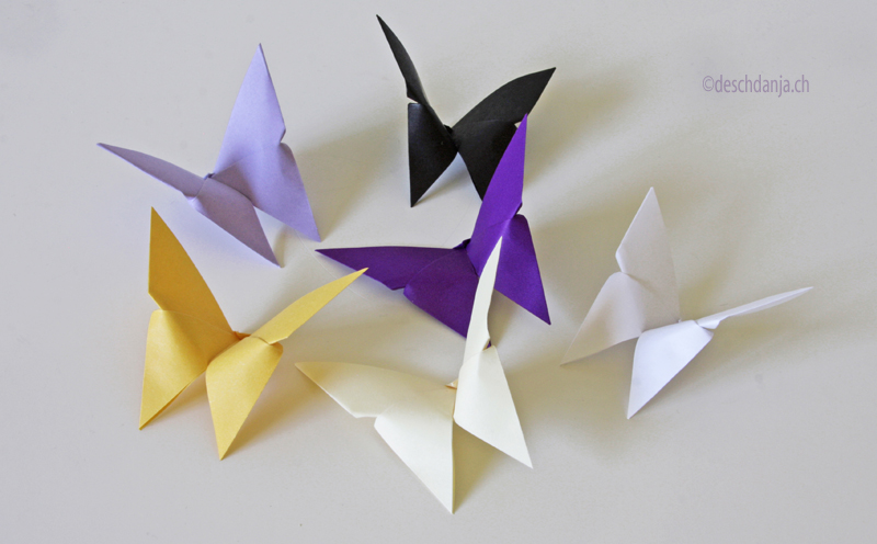 Origami Paper Craft: Pretty Butterflies in Various Shades