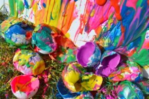 Paint Filled Eggs as Colorful Easter Activity