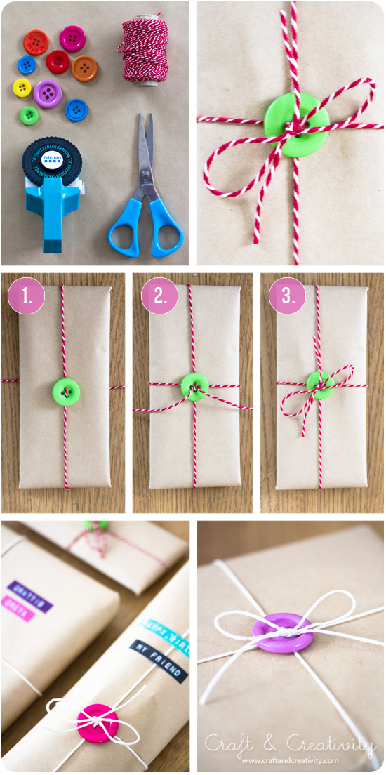 Quick & Easy Gift Wrap Ribbon with Buttons