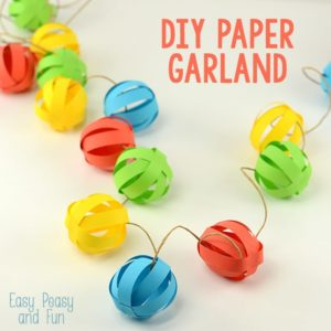 Quick DIY Paper Decor Craft Colorful Ball Garland