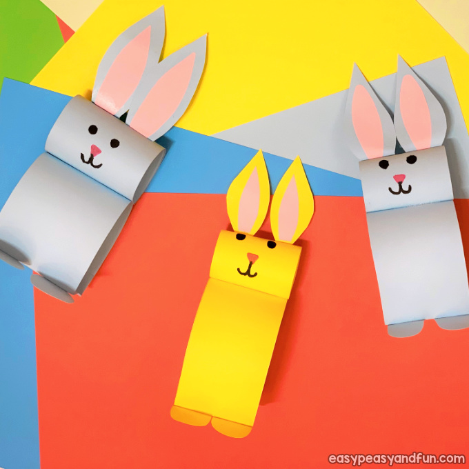 Easy and Colorful Paper Bunny Craft for Easter Celebration
