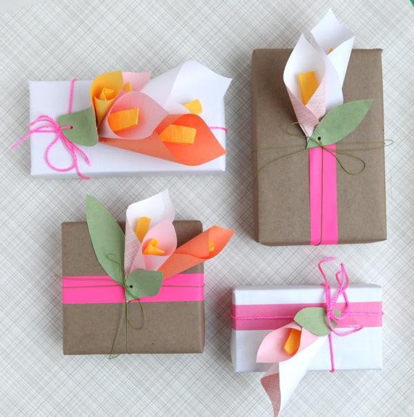 DIY Paper Flower-Calla Lillies Gift Top