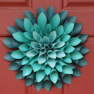 Traditional Paper Dahlia Wreath for Spring
