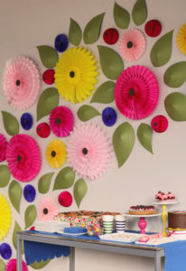 Floral Wall Decor with DIY Paper Flowers