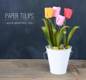 QUick DIY Craft: Colorful Paper Tulip