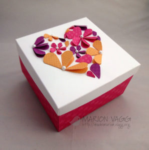 Gift Box Decor with Flower Petals and Pearls