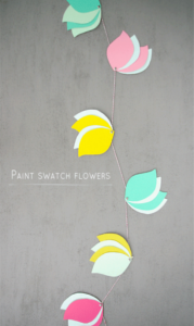 Paint Swatch Flowers DIY Wall Art