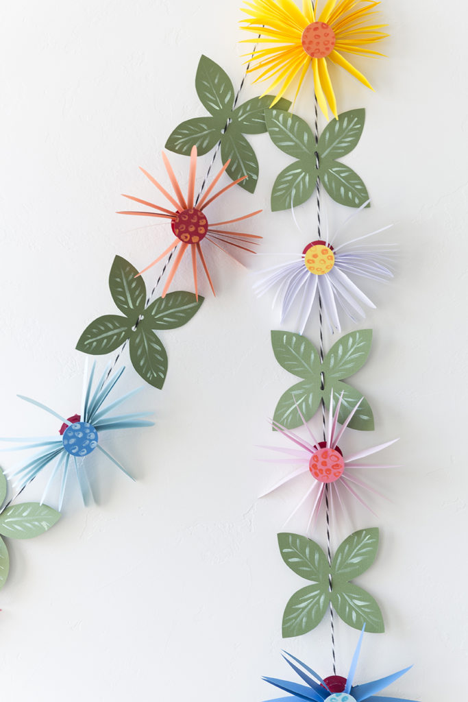 Simple Paper Flower Garland Tutorial Truly Hand Picked