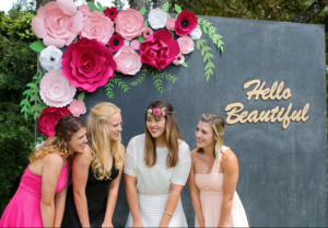 Giant Paper Flower Bunch for Floral Backdrop