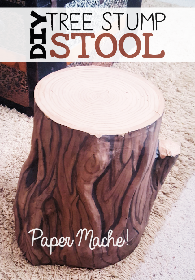 Swell Paper Mache Tree Stump Stool Editors Choice Simple And Camellatalisay Diy Chair Ideas Camellatalisaycom
