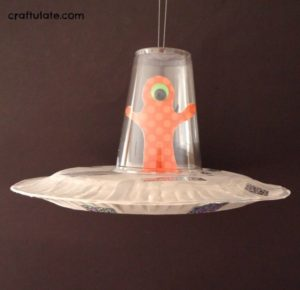 DIY Paper Plate Craft: Spaceship and Alien
