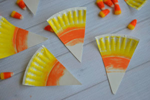 Paper Plate Craft: Delicious Candy Corn