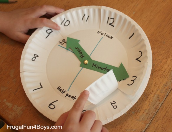 Utterly Easy Paper Plate Clock