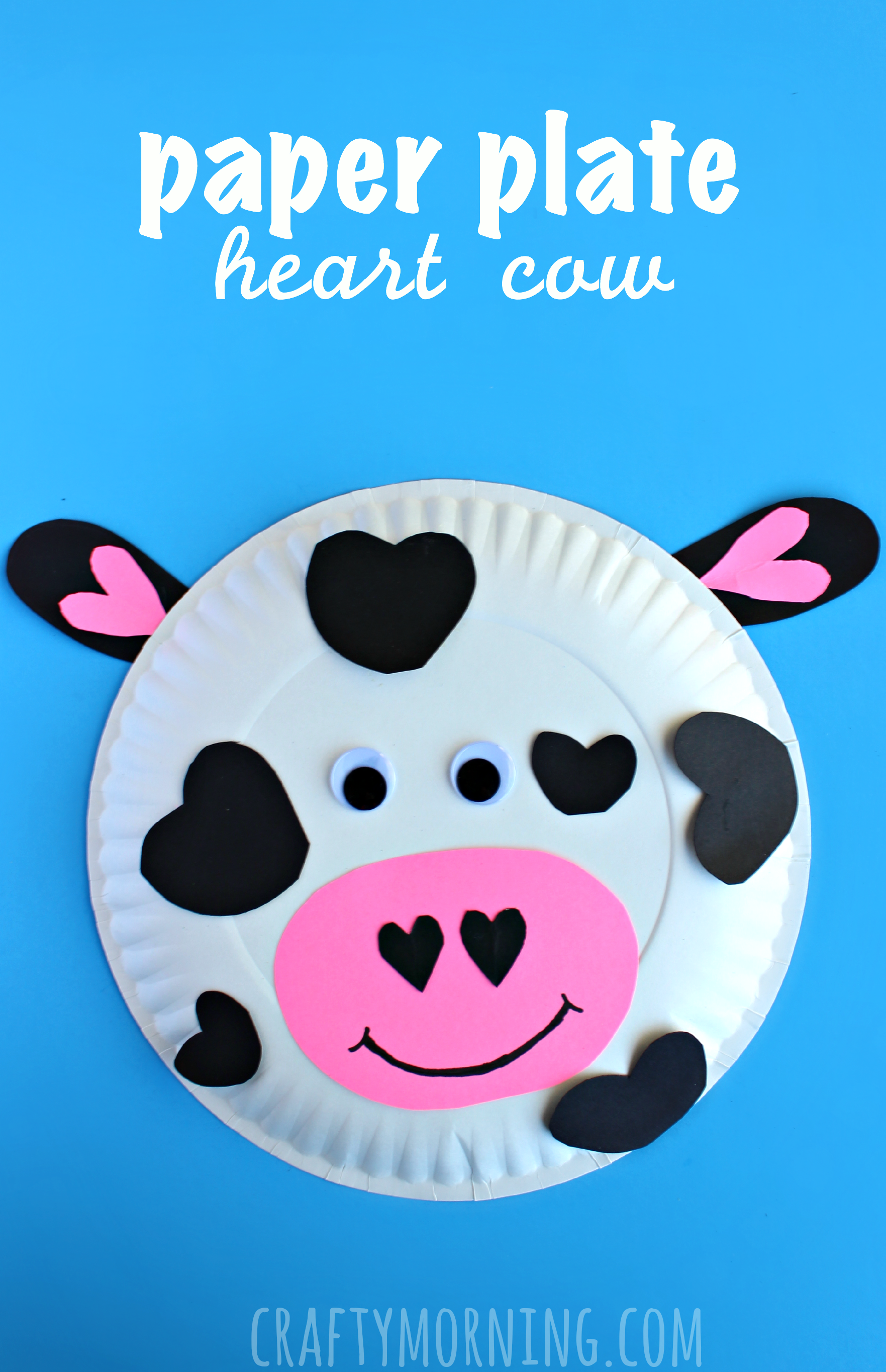 Animal Crafts  Paper Plate Cow Valentine Craft For Kids