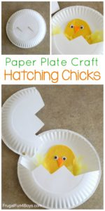 Animal Paper Plate Craft: Hatching Chicks Paper Plate Craft for Kids