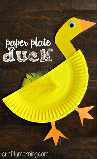 Quack Quack Paper Plate Duck Craft for Kids