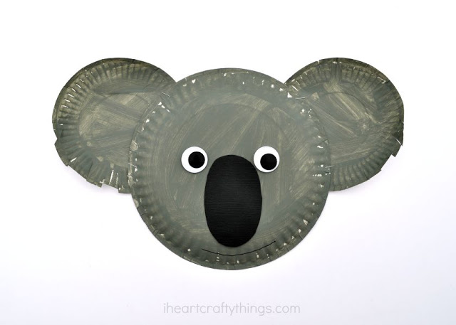 DIY Paper Plate Koala Face