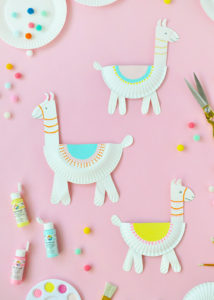 Paper Plate Llamas Very Colorful and Cute Crafts for Kids