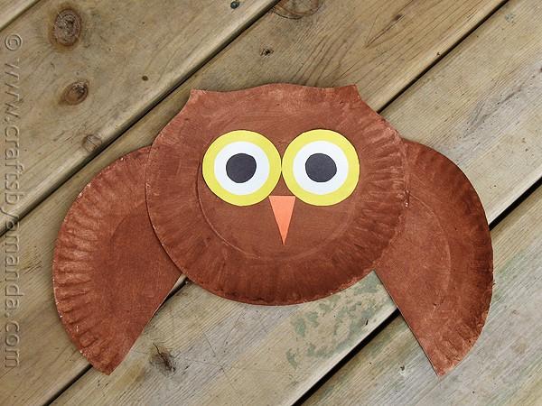 Super Adorable Paper Plate Owl