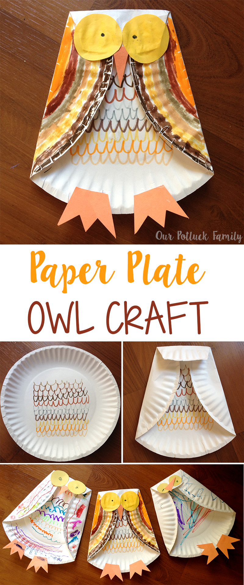 Easy Paper Plate Owl Craft