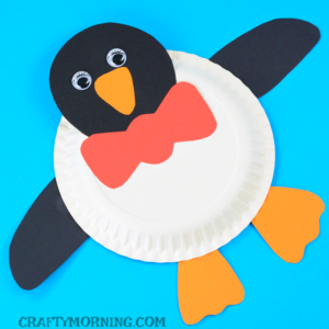 Paper Plate Animals: Paper Plate Penguin Craft