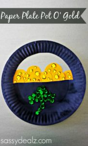 Paper Plate Craft for Kis Pot of Gold For St. Patrick's Day