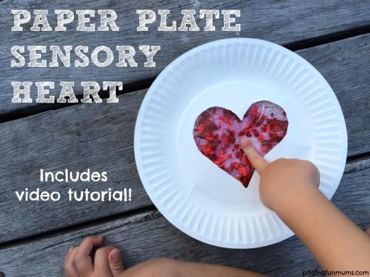 DIY Paper Plate Craft Sensory Heart